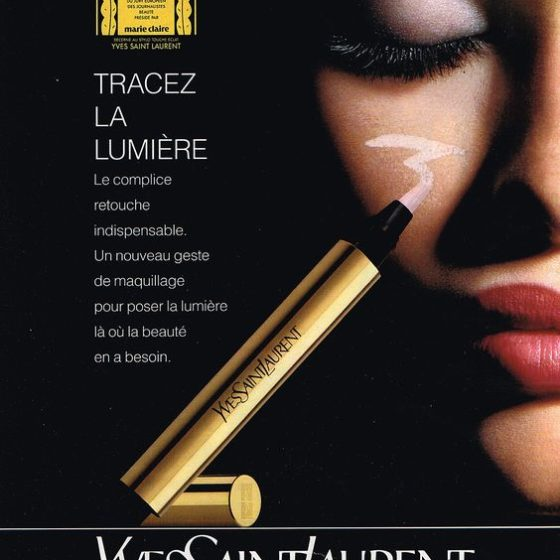 Reklame for YSL Touche Eclat fra 1992