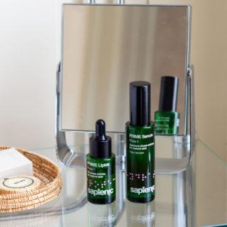Sapienic-produkter på badet
