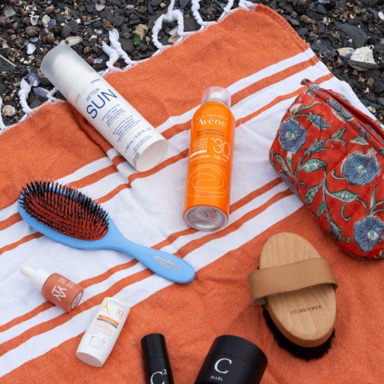 Sommerprodukter på strand